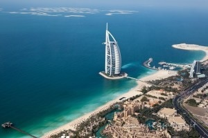 Burj Al Arab dall'alto