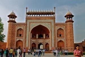 Entrata al Taj Mahal