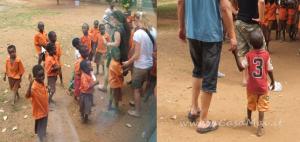 bimbi a scuola orfanotrofio