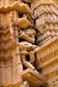 particolare del tempio jainista a Jaisalmer