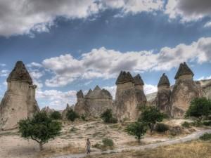 camini delle fate in Cappadocia, Turchia