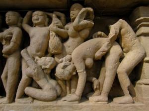 particolare di un tempio a Khajuraho