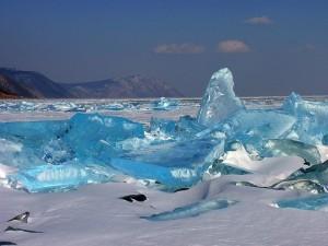 Lago Bajkal in inverno, Siberia