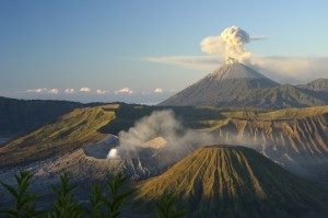 Mount Bromo nell'isola di Java, Indonesia
