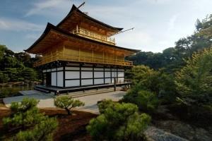 Kinkakuji da dietro, Kyoto