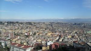 Città di Napoli, vista dall'alto