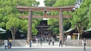 Davanti al santuario Meiji Jingu, Tokyo