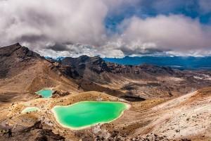 Emerald Lake al Tongariro National Park, Nuova Zelanda