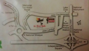 Location del KL Bird Park, Malesia