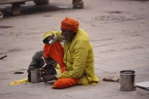 Pellegrino a Varanasi, India