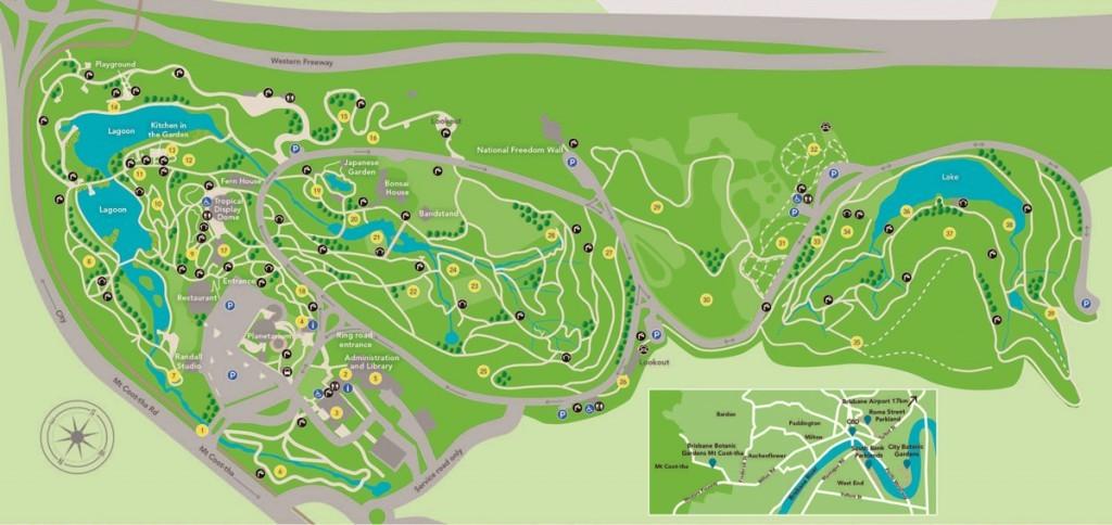 Mappa Botanic Gardens, Brisbane