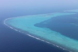 Dall'alto, Maldive