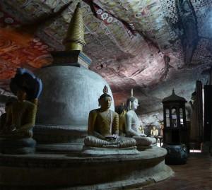 Grotte a Dambulla, Sri Lanka