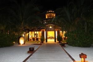 Hall da fuori dell'Angsana Velavaru, Maldive