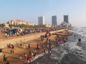 Una spiaggia a Colombo, Sri Lanka