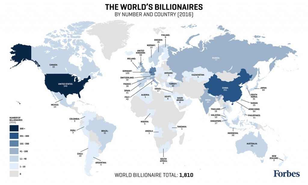 Mappa - miliardari Mondo
