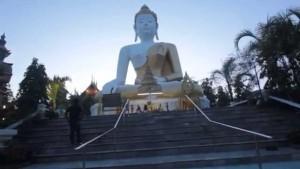 Buddha al Wat Phra That Doi Kham, Chiang Mai, Thailandia