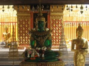 Emerald Buddha al Wat Phrathat Doi Suthep, Chiang Mai, Thailandia