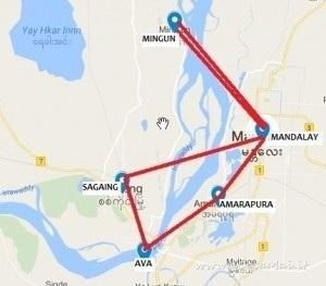 Terza mappa viaggio in Myanmar
