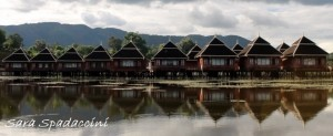 Bungalow dell'hotel, lago Inle