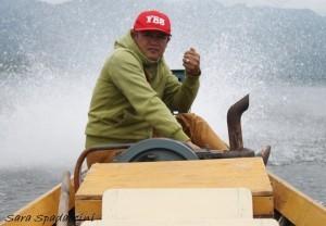 Conducente della barca, lago Inle