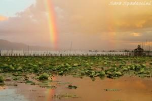 Tramonto dopo la pioggia, lago Inle
