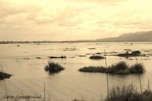 Vista sul lago Inle, lago Inle
