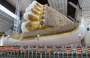 piedi del Shwethalyaung Buddha, Bago