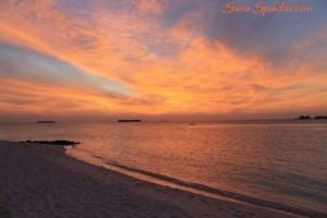 Stupendo tramonto, Maldive 2013