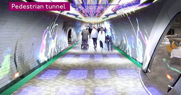 Metro abbandonata di Londra - pedonale