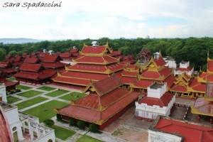 Royal Palace di Mandalay dall'alto, Myanmar
