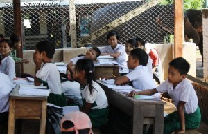 Scuola incontrata per strada 2, Myanmar