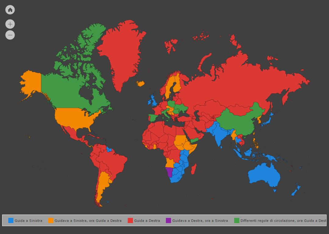 Cartina Mondiale Interattiva.Mappa Interattiva Paesi Con Guida A Sinistra E O Destra Acasamai It